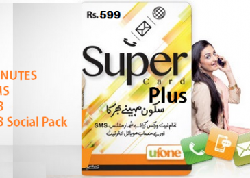 Ufone Super Card Plus for 599, Offer benefits Details