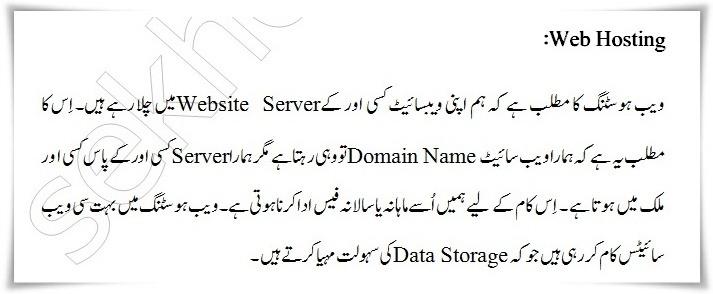 What Is Web Hosting In Urdu