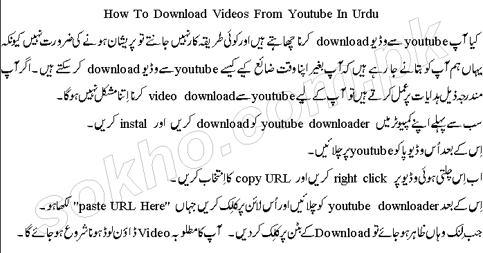 How To Download Videos From Youtube In Urdu