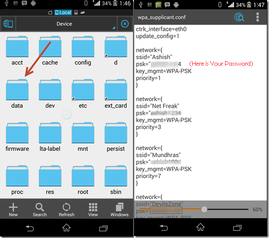 How To View Saved Wifi Password On Android Via ES File Explorer
