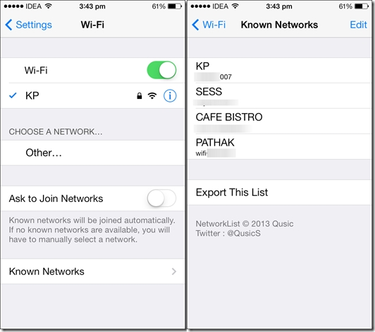 How To View Saved Wifi Password On iPhone