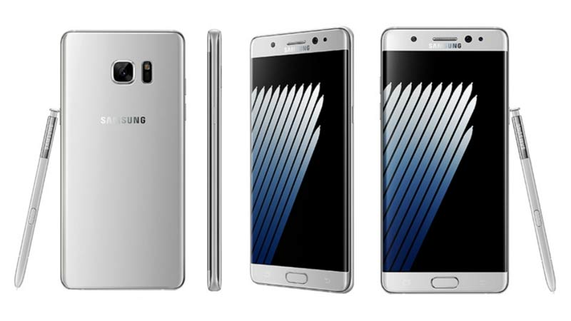 Samsung Galaxy Note 7 Silver Titaniume Color Pictures