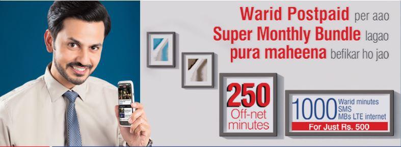 Warid Postpaid Hybrid Unlimited Monthly Bundle Subscription