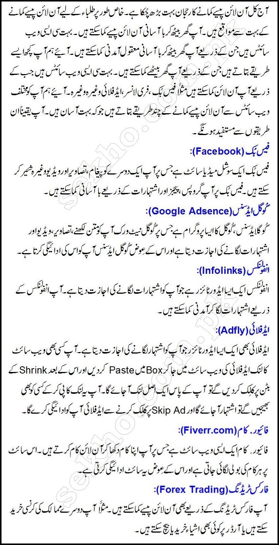 Make Money Online Best Ways From Home In Urdu