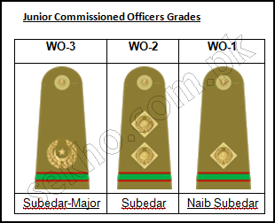 Pakistan Army Ranks And Badges With Salary Pay Scale Junior Commissioned Officer