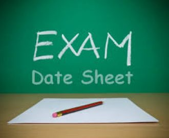 AIOU 10th Class Matric Date Sheet 2018