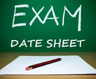 Date Sheet MA English Part 1, 2 Punjab University 2018