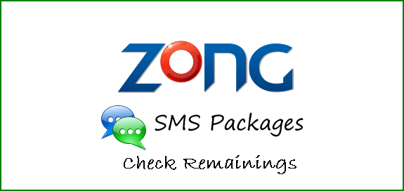 How To Check Zong Remaining SMS Package Code