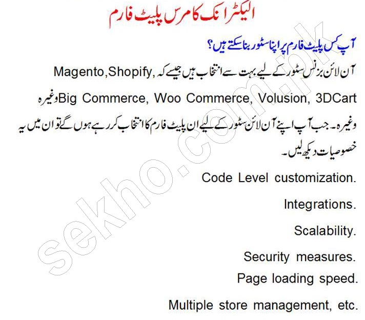 How To Start Online Store In Pakistan In Urdu Tips