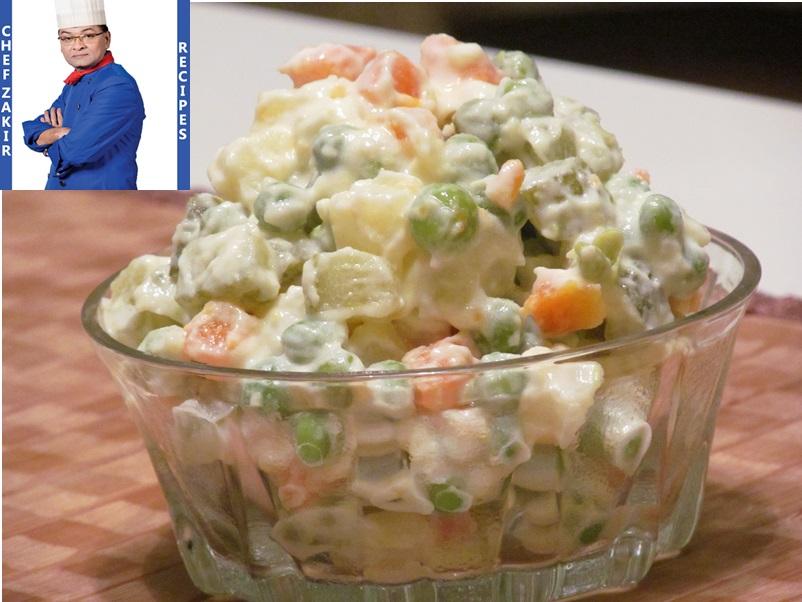 Russian Salad Recipe In Urdu By Chef Zakir