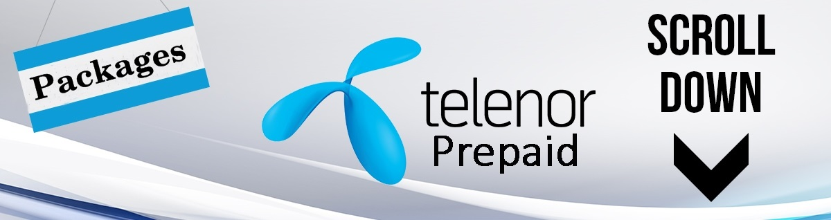 Telenor Prepaid Packages 2018, Calls, SMS, 3G, 4G Internet