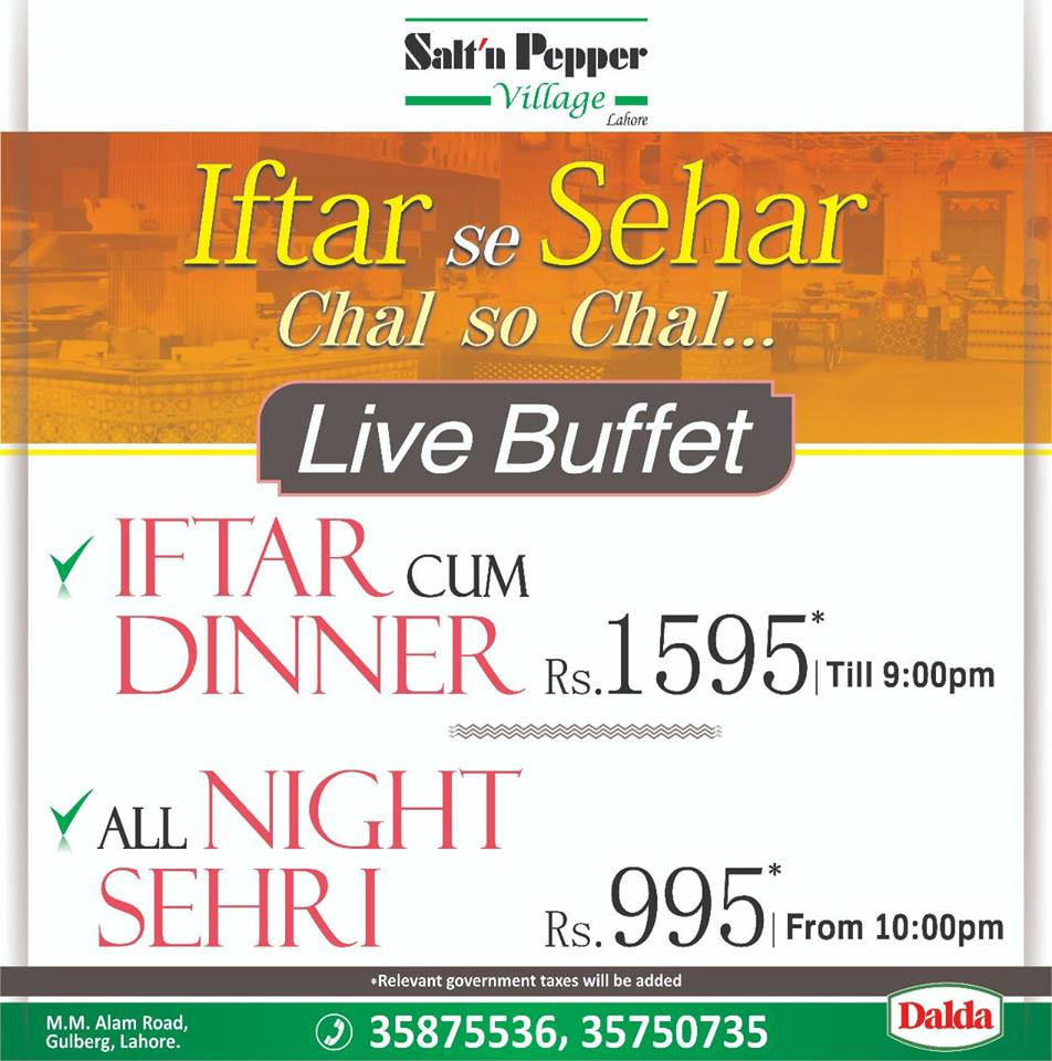 Best Ramadan Iftar Buffet Deals In Lahore Rates, Menu