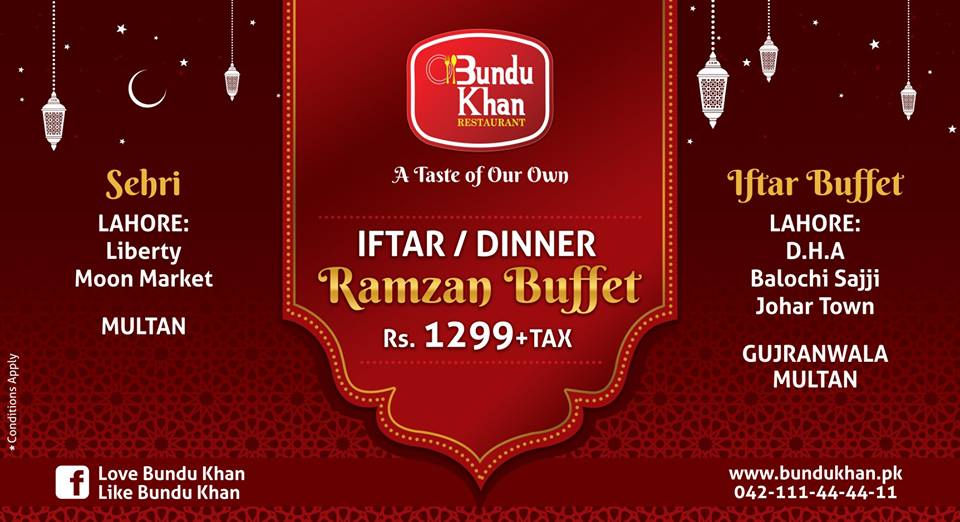 Best Ramadan Iftar Buffet Deals 2021 In Lahore