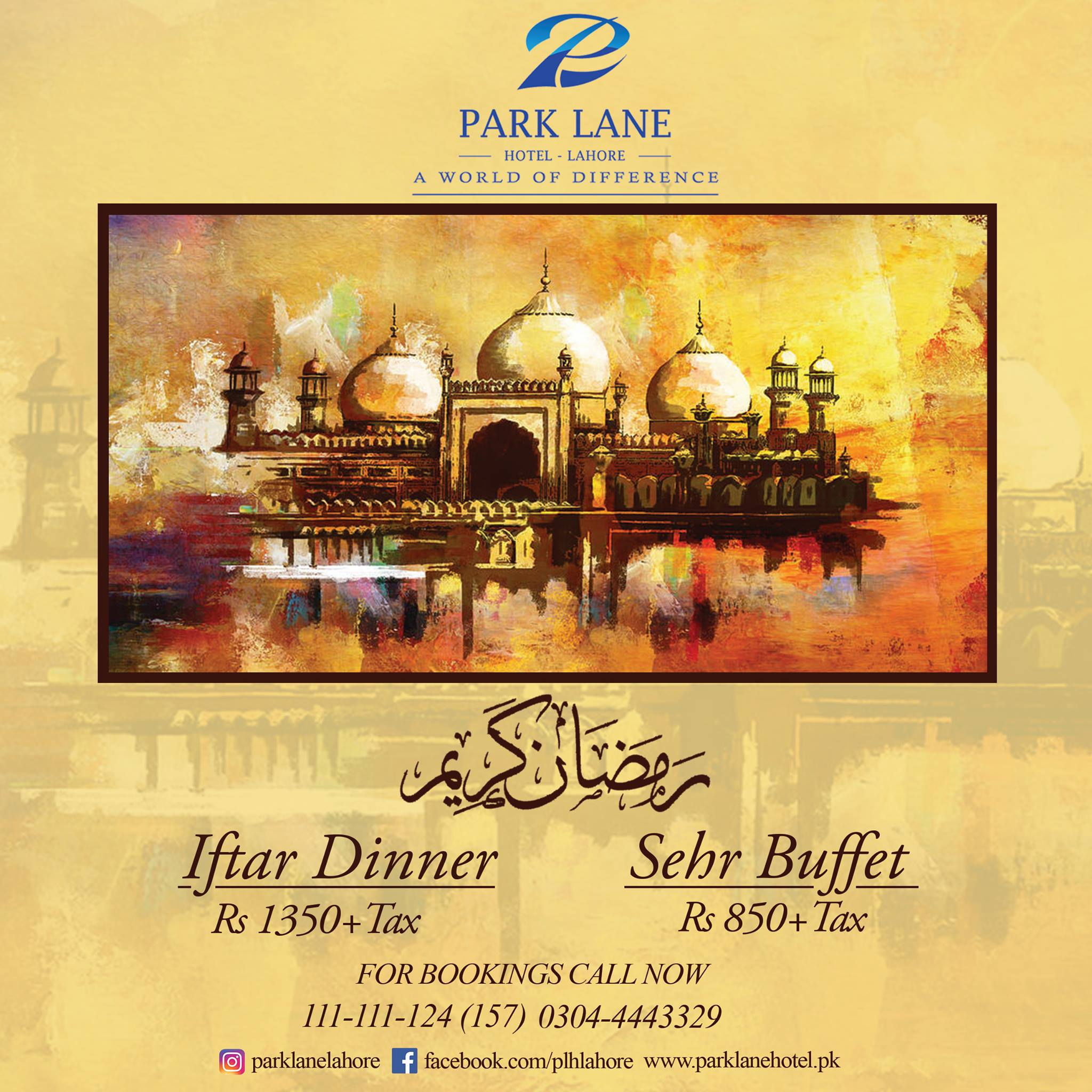 Best Ramadan Iftar Buffet Deals In Lahore Rates, Menu, park lane