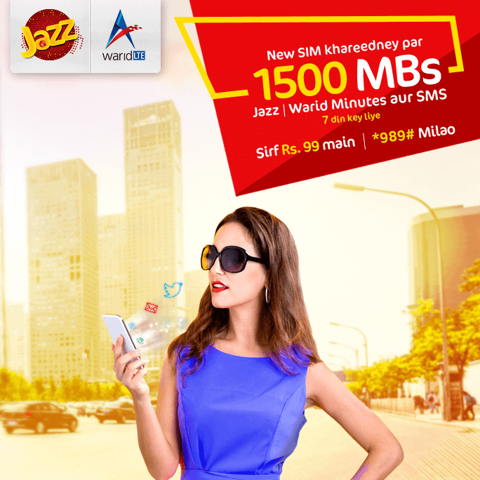 Mobilink Jazz New Band SIM Lagao Offer 2018