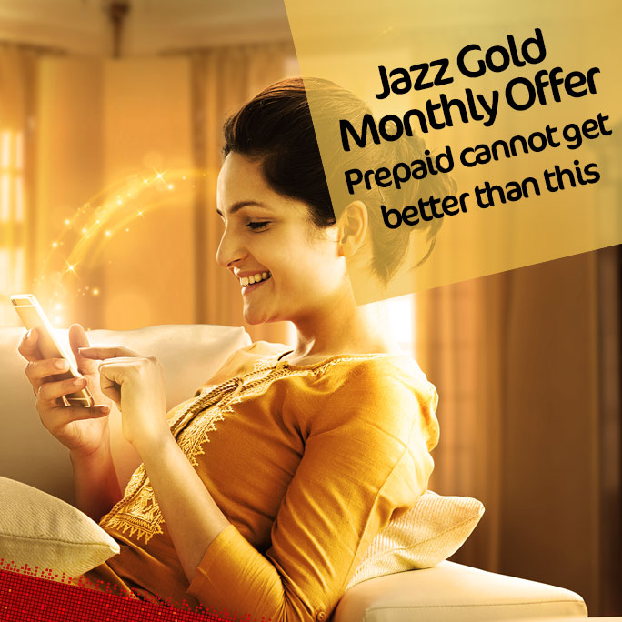 Jazz Gold Monthly Offer 2021 All In One Hybrid Package Call, SMS, MBs