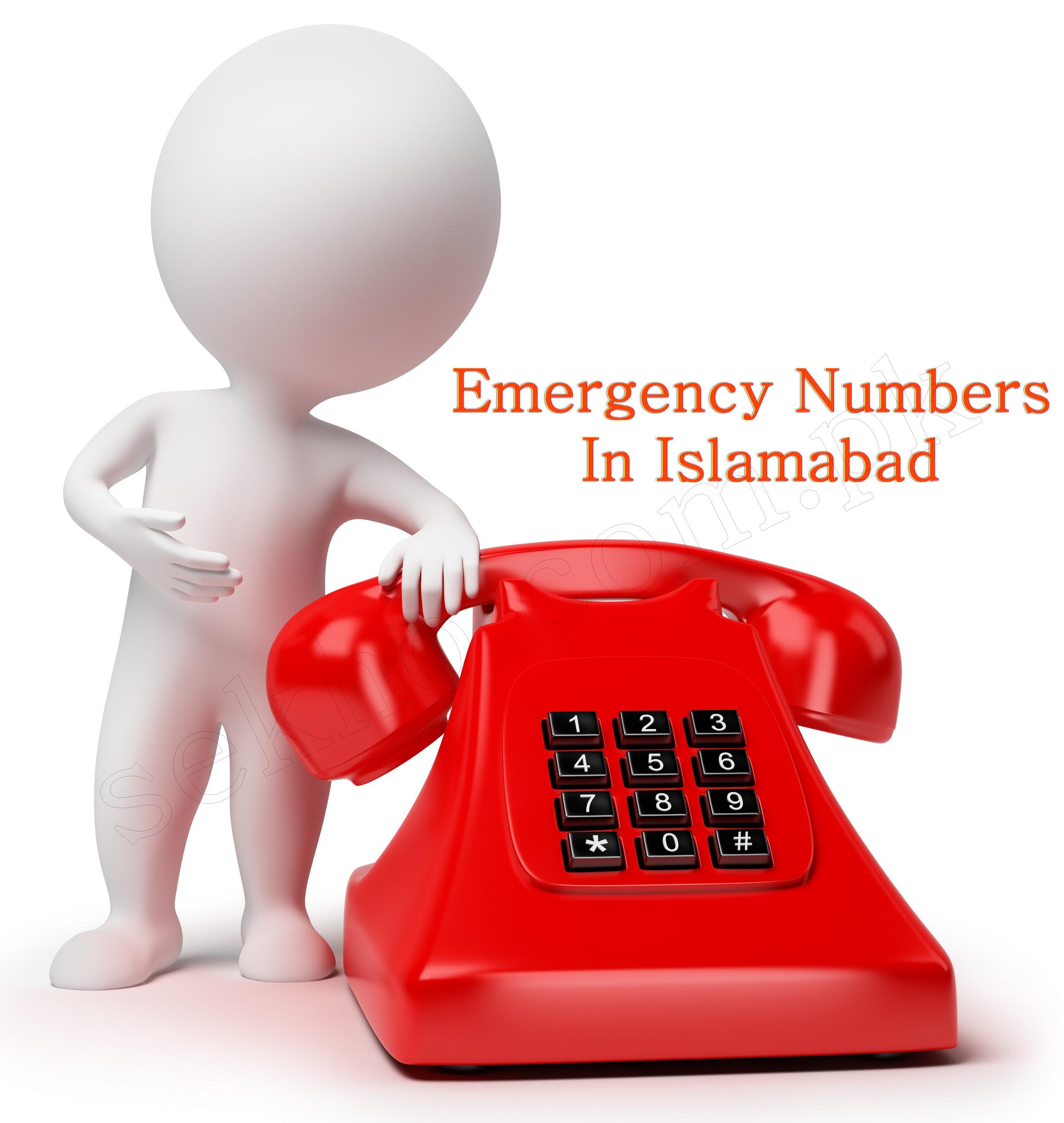 Emergency Telephone Numbers In Islamabad