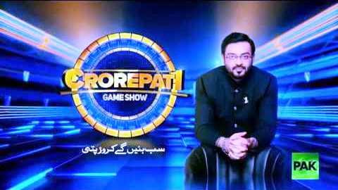 Aamir Liaquat Crorepati Game Show On Pak News