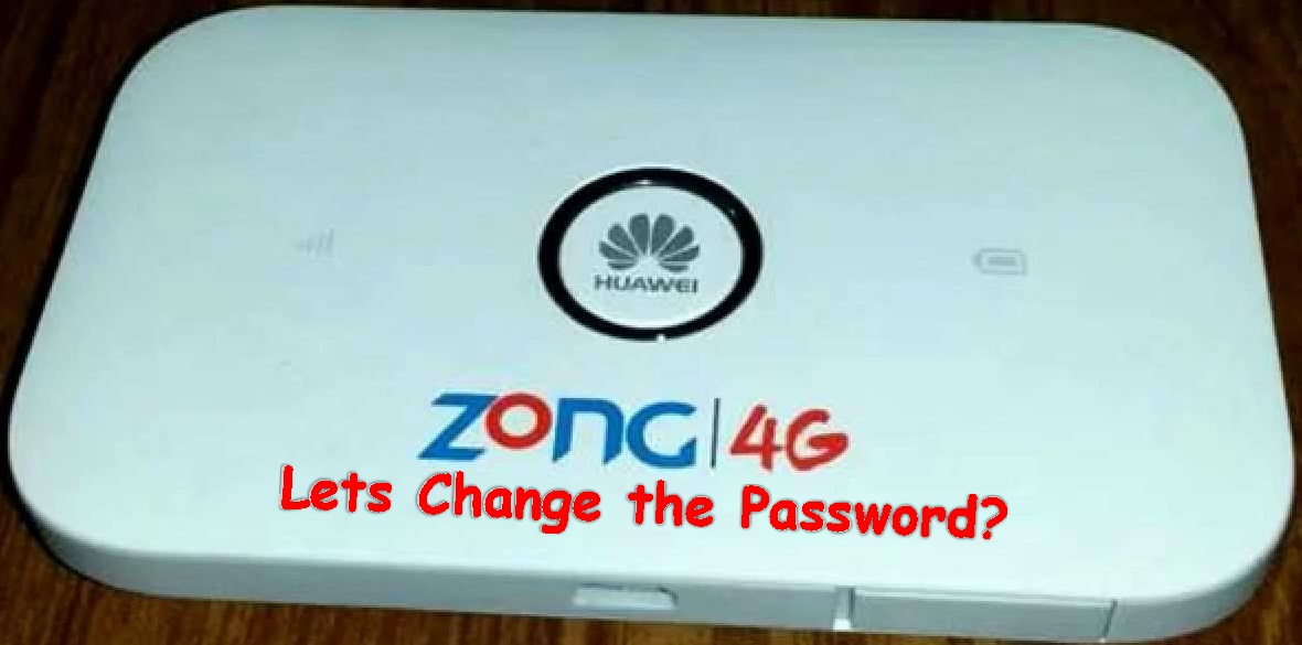 How To Change Zong 4G Device Wifi Password