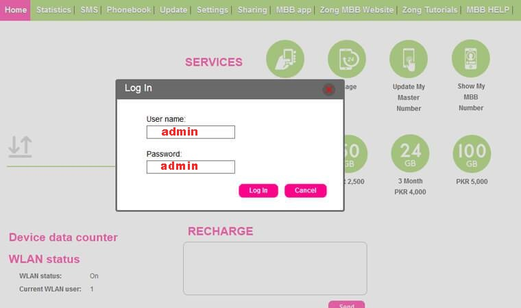 How To Change Zong Wifi Password 4G Device