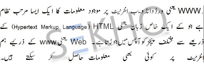 What Is World Wide Web Www In Urdu Definition Meaning