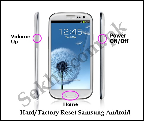 How To Factory Reset Samsung Galaxy Android Mobile Phones