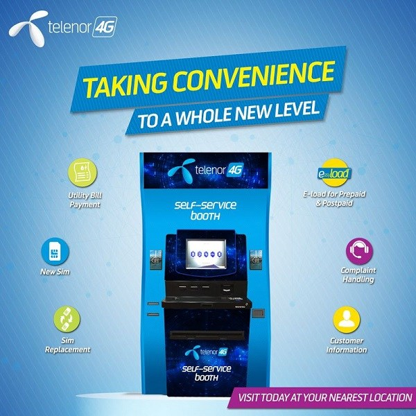 Telenor Self-Service Booths For Customers 24/7