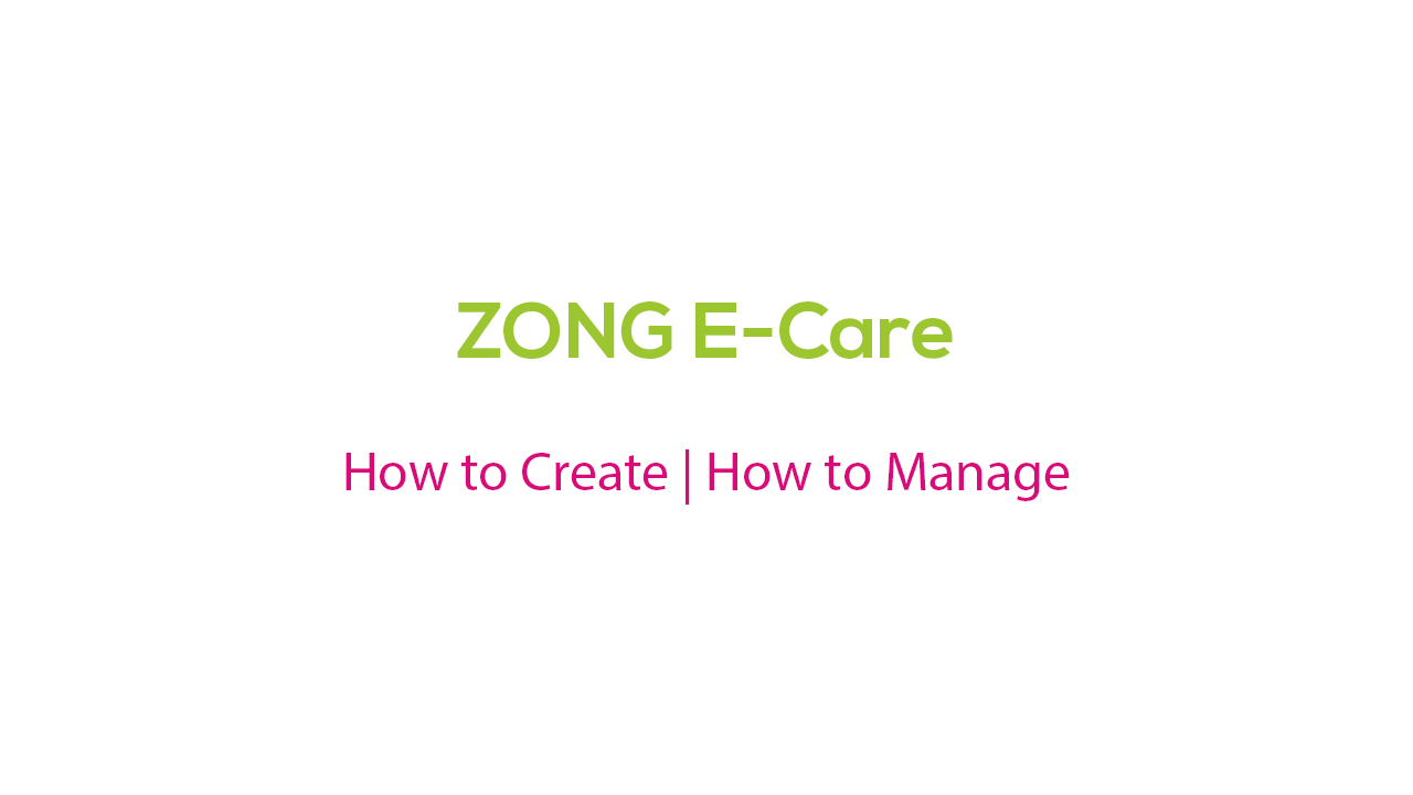Zong ECare Account Login Call History Details