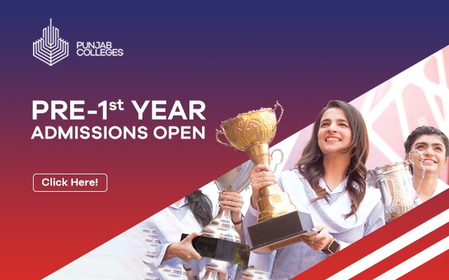 Punjab College Free Pre First Year admission 2021