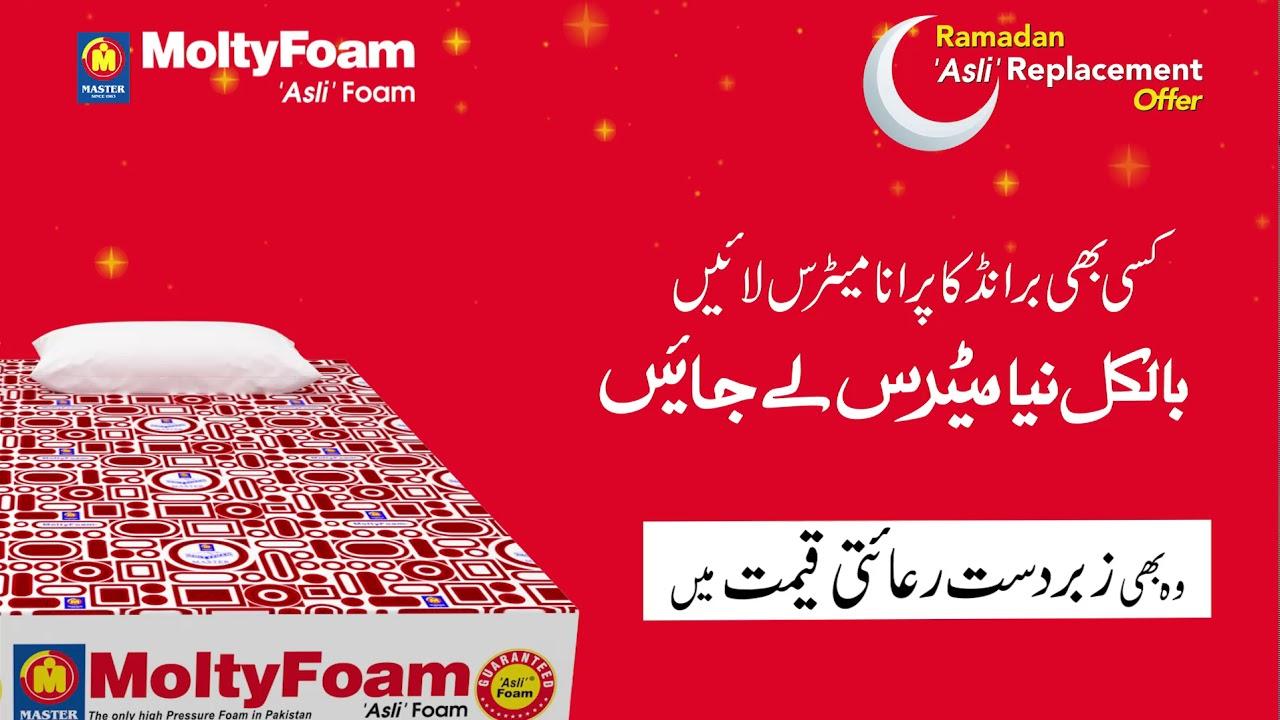 Molty Foam Ramadan Offer 2019 Asli Replacement Offer