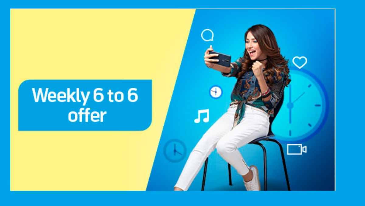 Telenor Weekly 6 to 6 Offer Code in Rs 55