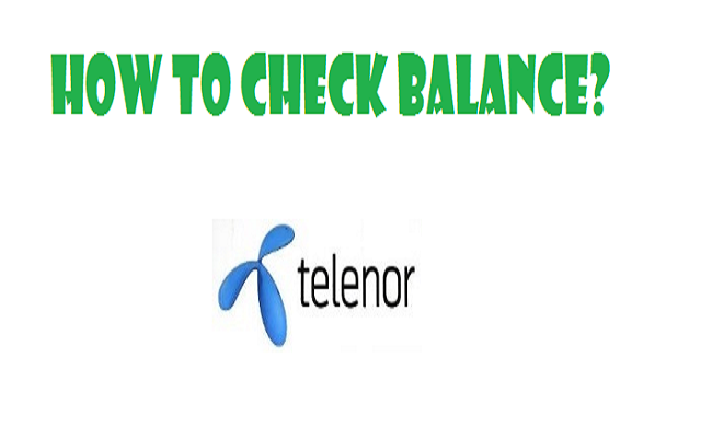 Telenor Balance Check Code In Postpaid, Prepaid, 4G device